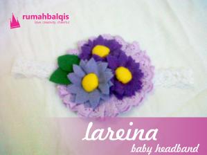 baby headband atau bandana flanel bayi lareina rumahbalqis 1